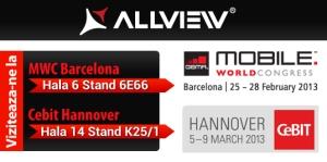 Allview la Mobile World Congress Barcelona 2013 si CEBIT Hannover 2013