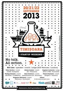 Startup Weekend Timisoara afis