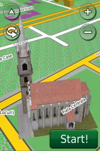Biserica Evanghelica Fortificata de la Bistrita in ROAD2013.40 pe Nuvi 3790-2
