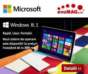 Windows 8.1 in oferta evoMAG