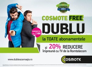 Dubleaza magia COSMOTE postpaid