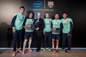 Anunt parteneriat Intel - FC Barcelona