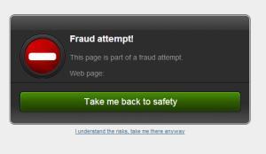 Bitdefender blocks the fraudulent web page