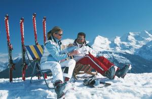 Sun skiing Austria 2