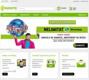 Noul site Cosmote
