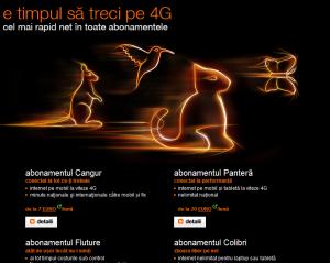 4G in abonamentele Orange