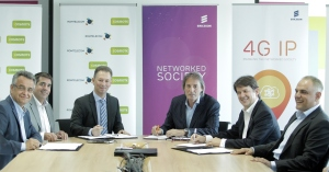 Romtelecom, Cosmote Romania and Ericsson MS Services Contract - Group photo