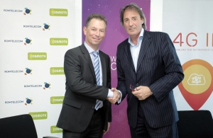 Romtelecom, Cosmote Romania and Ericsson MS Services Contract - Handshake photo