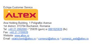 Numere de telefon Customer Care Altex