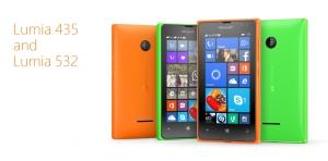 Lumia 435 si Lumia 532