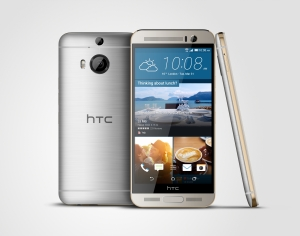 HTC One M9+ Gold on Silver_1