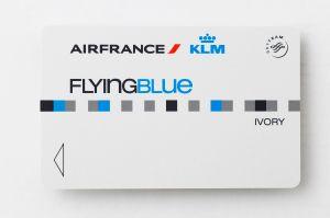 Card Flying Blue